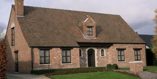 Oude platte dakpannen